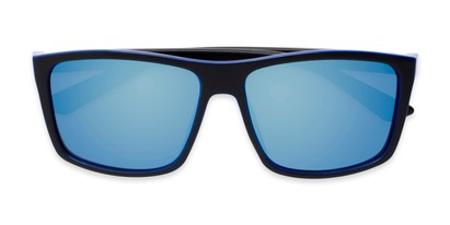 Folded of Travis #54109 in Black/Blue Frame with Blue Mirrored Lenses