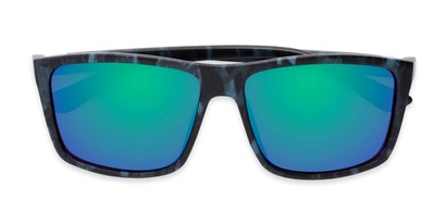 Folded of Travis #54109 in Black/Blue Camo Frame with Green/Purple Mirrored Lenses