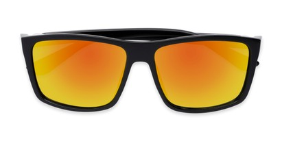 Folded of Travis #54109 in Black Frame with Orange Mirrored Lenses