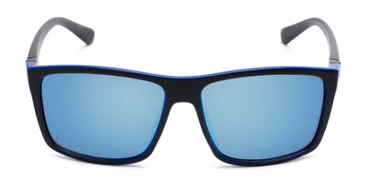 Front of Travis #54109 in Black/Blue Frame with Blue Mirrored Lenses