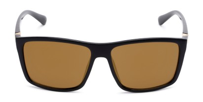 Front of Travis #54109 in Black Frame with Gold Mirrored Lenses