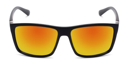 Front of Travis #54109 in Black Frame with Orange Mirrored Lenses