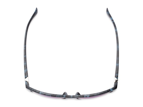 Overhead of Travis #54109 in Black/Blue Camo Frame with Green/Purple Mirrored Lenses