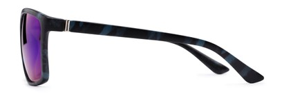 Side of Travis #54109 in Black/Blue Camo Frame with Green/Purple Mirrored Lenses