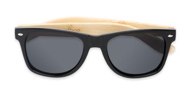 3cd2bf4233 Folded of Treeline  1421 in Glossy Black Bamboo Frame with Smoke Lenses