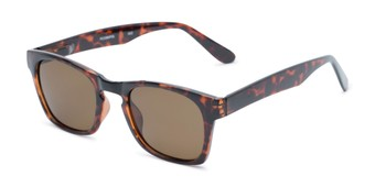Angle of Trent #3389 in Tortoise Frame with Amber Lenses, Women's and Men's Retro Square Sunglasses