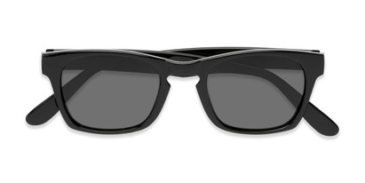 Folded of Trent #3389 in Black Frame with Grey Lenses