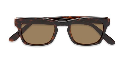 Folded of Trent #3389 in Tortoise Frame with Amber Lenses