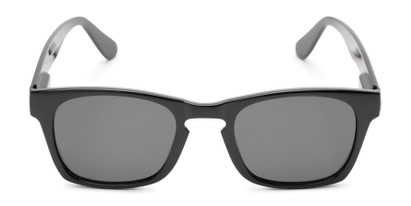 Front of Trent #3389 in Black Frame with Grey Lenses