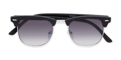 Folded of Tuck #6445 in Black/Silver Frame with Smoke Lenses