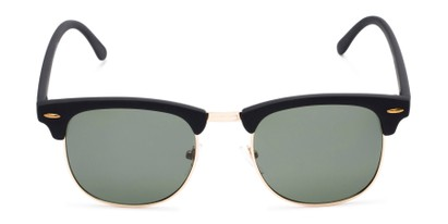 Front of Tuck #6445 in Black/Gold Frame with Green Lenses