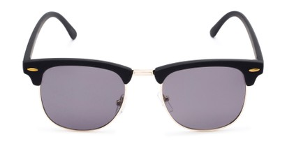 Front of Tuck #6445 in Black/Gold Frame with Grey Lenses