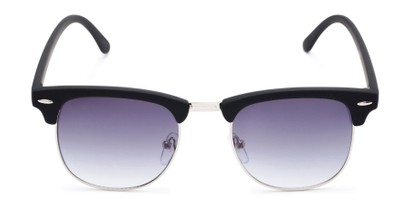 Front of Tuck #6445 in Black/Silver Frame with Smoke Lenses