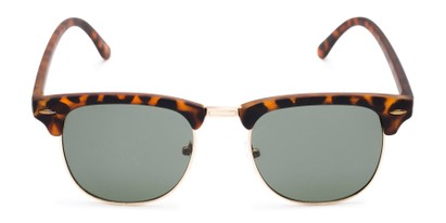 Front of Tuck #6445 in Tortoise/Gold Frame with Green Lenses