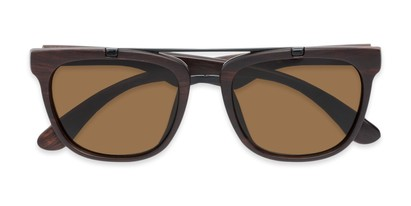 Folded of Tucker #54081 in Dark Brown Frame with Amber Lenses
