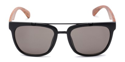 Front of Tucker #54081 in Black/Brown Frame with Grey Lenses