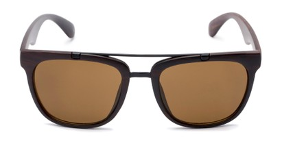 Front of Tucker #54081 in Dark Brown Frame with Amber Lenses