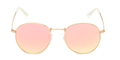 Front of Tyler #2021 in Gold Frame with Champagne Pink Lenses