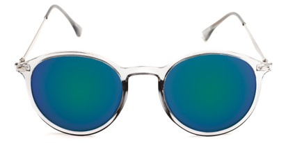 round plastic sunglasses with metal arms