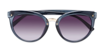 Folded of Vienna #6385 in Dark Blue Frame with Smoke Lenses