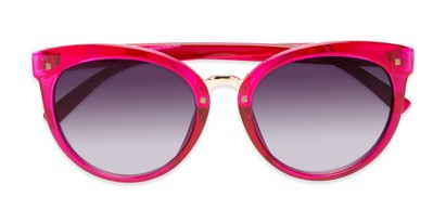 Folded of Vienna #6385 in Pink Frame with Smoke Lenses