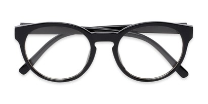 Folded of Vincent #3811 in Glossy Black Frame with Clear Lenses