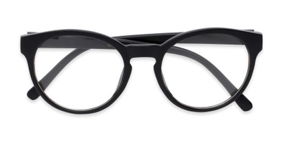 Folded of Vincent #3811 in Matte Black Frame with Clear Lenses