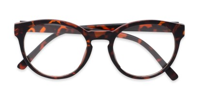 Folded of Vincent #3811 in Matte Tortoise Frame with Clear Lenses