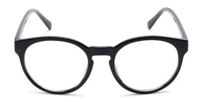 Front of Vincent #3811 in Glossy Black Frame with Clear Lenses