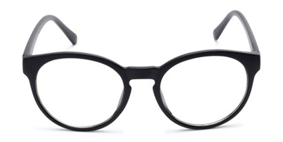 Front of Vincent #3811 in Matte Black Frame with Clear Lenses