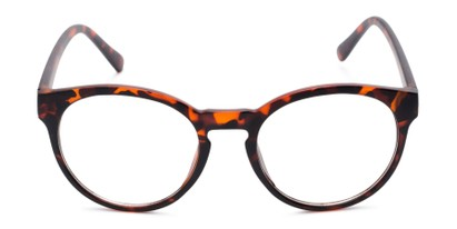 Front of Vincent #3811 in Matte Tortoise Frame with Clear Lenses
