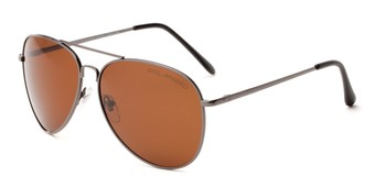 Angle of Vista #9270 in Grey Frame with Amber Lenses, Women's and Men's Aviator Sunglasses