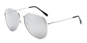 Angle of Vista #9270 in Silver Frame with Mirrored Lenses, Women's and Men's Aviator Sunglasses