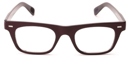 Front of Baritone #3489 in Brown Frame with Clear Lenses