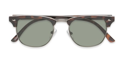 Folded of Warren by Foster Grant in Tortoise/Grey Frame with Green Lenses
