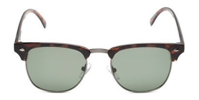 Front of Warren by Foster Grant in Tortoise/Grey Frame with Green Lenses