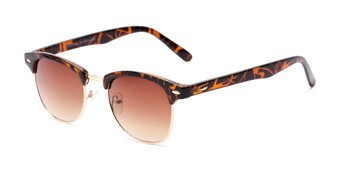 Angle of Whistler #324 in Brown Tortoise/Gold Frame with Amber Lenses, Women's and Men's Browline Sunglasses