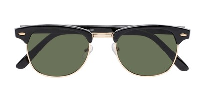 Folded of Whistler #324 in Black/Gold Frame with Green Lenses