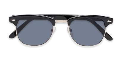 Folded of Whistler #324 in Black/Silver Frame with Grey Lenses