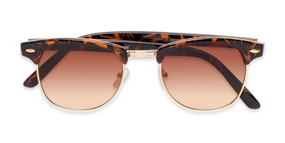 mixed material classic browline sunglasses