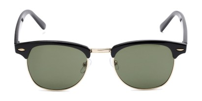Front of Whistler #324 in Black/Gold Frame with Green Lenses