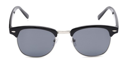 Front of Whistler #324 in Black/Silver Frame with Grey Lenses