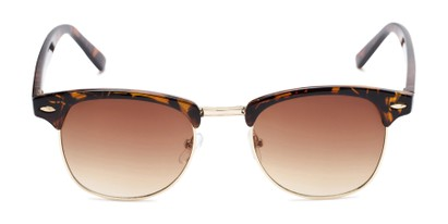 Front of Whistler #324 in Brown Tortoise/Gold Frame with Amber Lenses