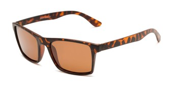 Angle of Whitford #6045 in Matte Tortoise Frame with Amber Lenses, Men's Square Sunglasses