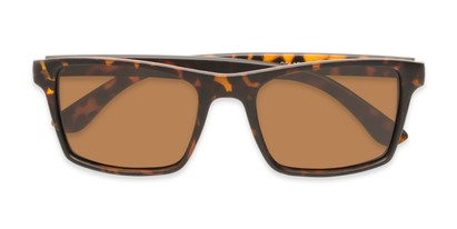 Folded of Whitford #6045 in Matte Tortoise Frame with Amber Lenses