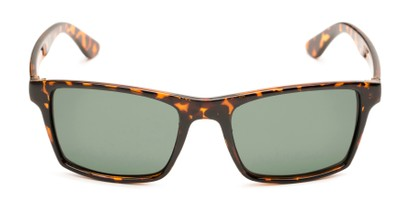 Front of Whitford #6045 in Glossy Tortoise Frame with Green Lenses
