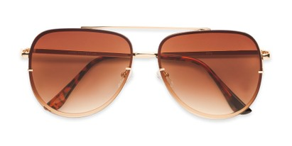 Folded of Wilder #4772 in Gold Frame Amber Gradient Lenses