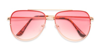 Folded of Wilder #4772 in Gold Frame with Pink Gradient Lenses