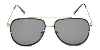 Front of Wilder #4772 in Gold Frame with Smoke Lenses