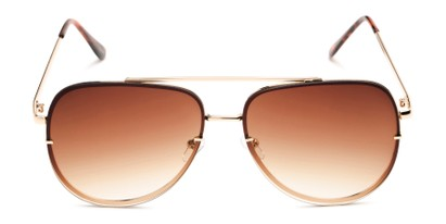 Front of Wilder #4772 in Gold Frame Amber Gradient Lenses